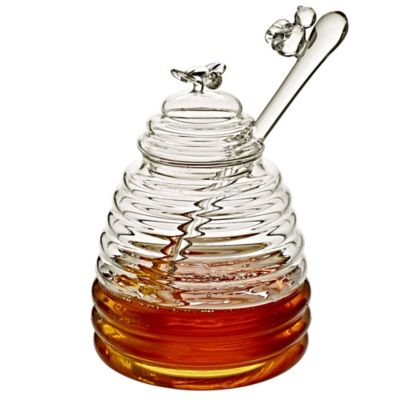Glass Honey Pot with Dipper