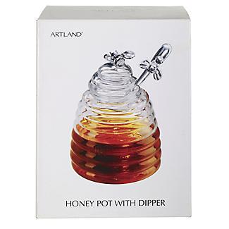 Honigtopf aus Glas mit Servierlöffel alt image 3