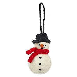 Snowman Hanging Tree Decoration
