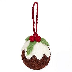 Christmas Pudding Hanging Tree Decoration