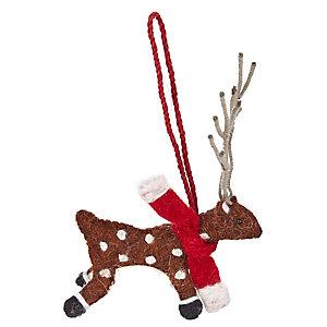 Reindeer Hanging Tree Decoration