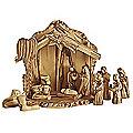 Olive Wood Nativity Scene