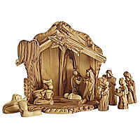 Olive Wood Nativity Scene