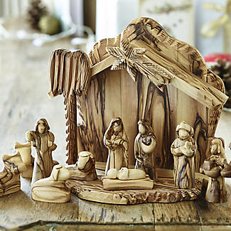 Olive Wood Nativity Scene alt image 2