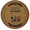Round Cork Drinks Tray