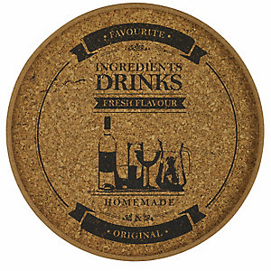 Round Cork Drinks Tray