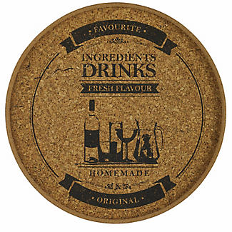 Round Cork Drinks Tray alt image 1