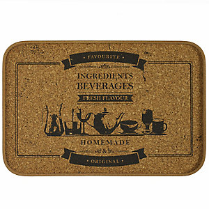 Rectangular Cork Serving Tray