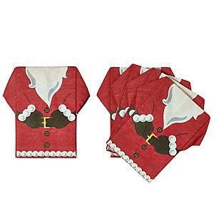 12 Pre Folded Santa Napkins