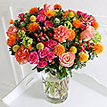 Neon Chintz Bouquet with Free Express Delivery