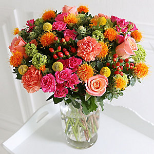 Neon Chintz Bouquet with Free Express Derlivery