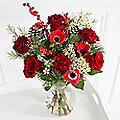 Very Berry Christmas Bouquet With Free Express Delivery
