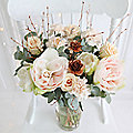 Copper and Peach Bouquet with Free Express Delivery
