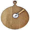 Toscana Harvest Oak Pizza Board with Wheel