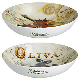 Toscana Harvest 2 Pasta Bowls