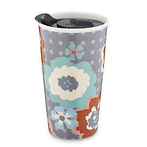 Abstract Floral Travel Mug