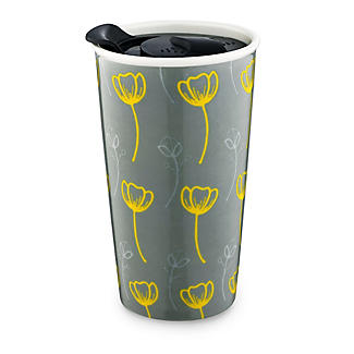 Tall Double-Walled Buttercup Travel Mug With Lid