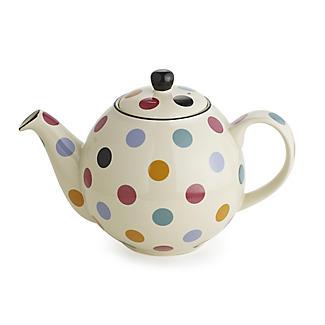 Bauchige gepunktete Granit-Teekanne für 4 Tassen