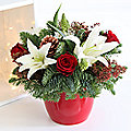 Christmas Table Arrangement With Free Express Delivery