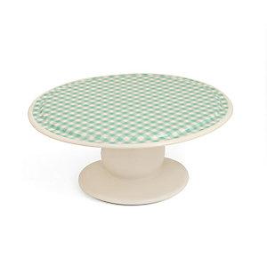 Nigella Green Gingham Cake Stand