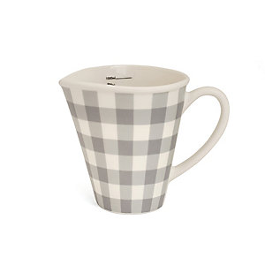 Nigella Grey Gingham 1 Litre Measuring Jug