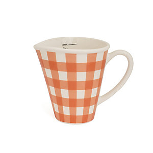 Nigella Orange Gingham 1 Litre Measuring Jug