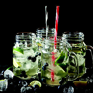 4 Clear Kilner® Drinking Jars with Handles alt image 4