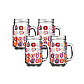 4 Kilner® Fruit Punch Drinking Jars with Handles