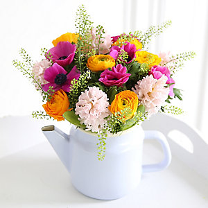 Springtime Teapot Bouquet With Free Express Delivery