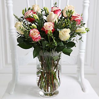 Rose and Freesia Bouquet With Free Express Delivery alt image 2