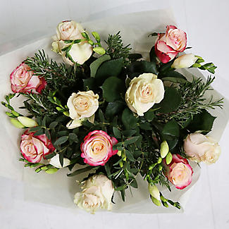 Rose and Freesia Bouquet With Free Express Delivery alt image 3