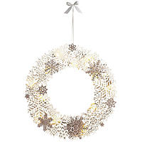 LED Snowflake Wreath