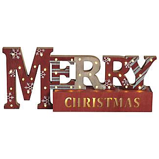 """Beleuchtbare Weihnachtsdekoration """"Merry Christmas"""""""