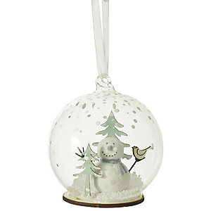 Snowman Winter Scene Bauble