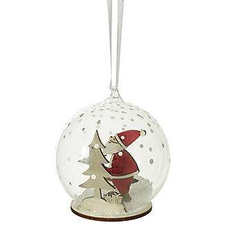 Santa Winter Scene Bauble
