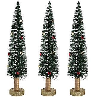 Glitzerndes Baum-Trio