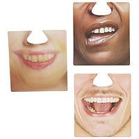 Untersetzer mit 3D-Gesichtern