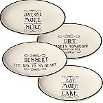 Love Food 4 Cake Plates