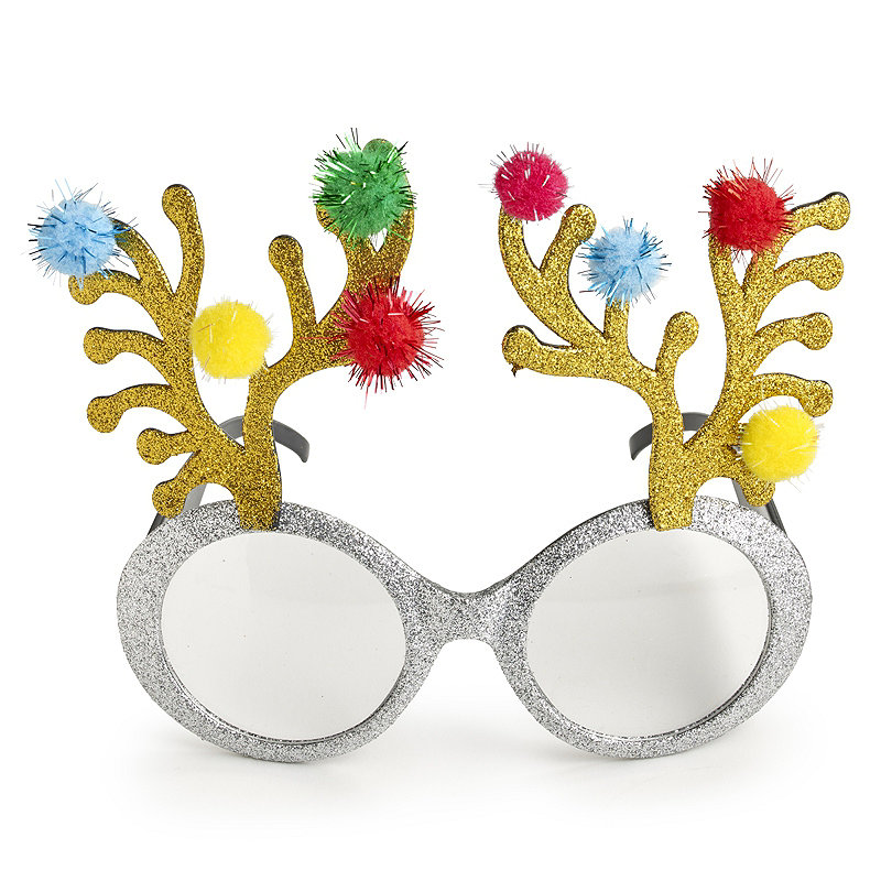 Glitter Reindeer Funglasses