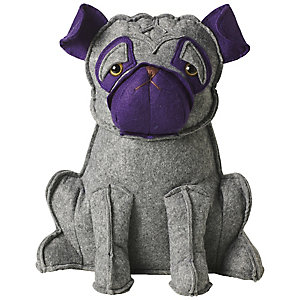 Purple Pug Doorstop