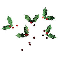 Botanical Christmas Holly Scatter Leaves