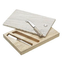 Artesa Marble Cheese Board and 2 Knives