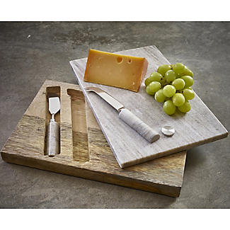 Artesa Marble Cheese Board and 2 Knives alt image 3