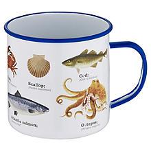 Sea Life Enamel Mug