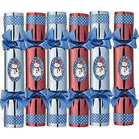 6 Build-a-Snowman Crackers