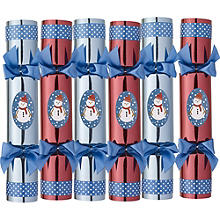 6 Build-a-Snowman Crackers