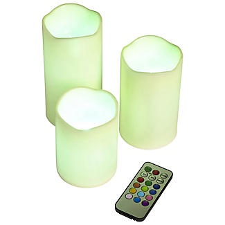 3 Remote Control Colour-Changing Candles alt image 2