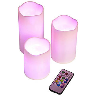 3 Remote Control Colour-Changing Candles alt image 3