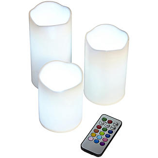 3 Remote Control Colour-Changing Candles alt image 4