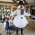 Inflatable Snowman Suit